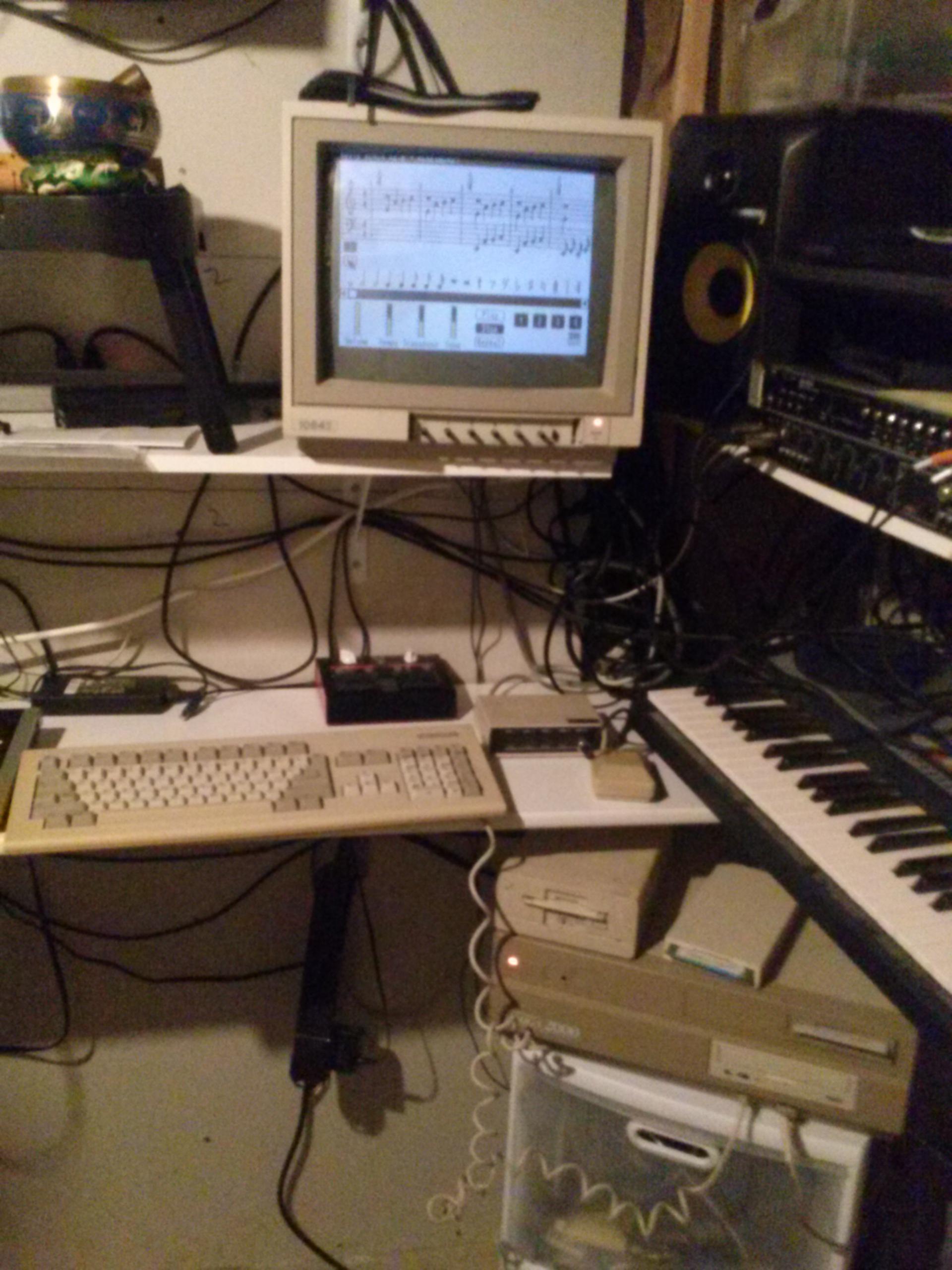 Music made with Amiga 2000