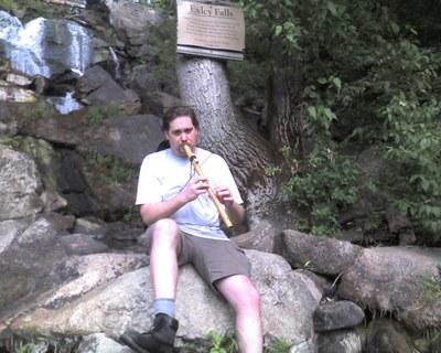Hawke at Exley Falls Horseshoe Lake with Flute
