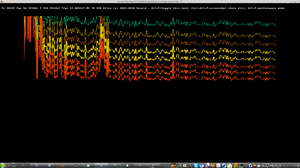8 octaves not separated yet 20120410a but closer in colors working by frequency